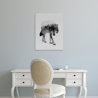 Easy Art Prints Andreas Lie's 'Wolf in the Woods' Premium Canvas Art