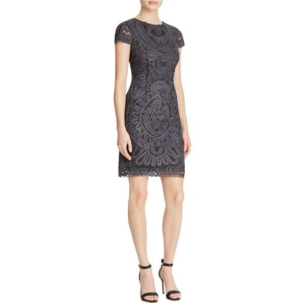 d0d60a770d084 Shop JS Collections Womens Cocktail Dress Cap Sleeves Knee-Length ...
