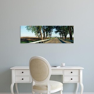 Easy Art Prints Panoramic Image 'Road passing through, Illinois Route 64, Carroll County, Illinois' Canvas Art
