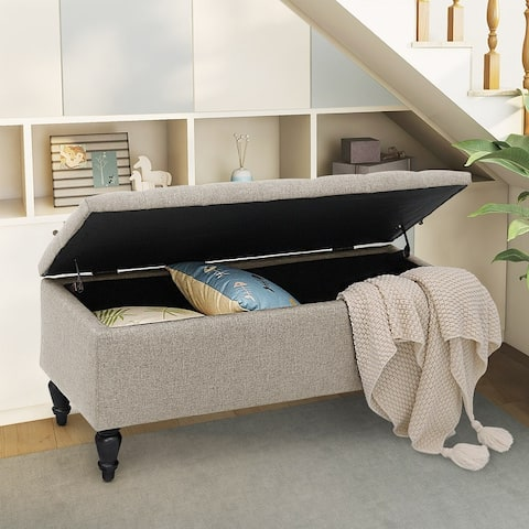 """Maypex 38"""" Fabric Upholstered Tufted Storage Bench"""