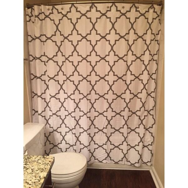 Top Product Reviews For Echelon Home Quatrefoil Shower Curtain