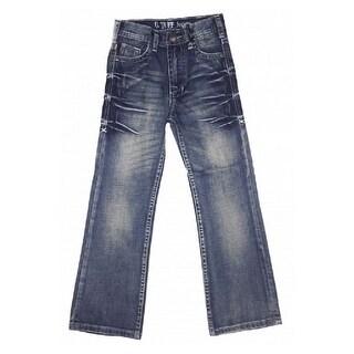 B. Tuff Western Denim Jeans Boys Kids Casey Bootcut Med Wash BJCASE