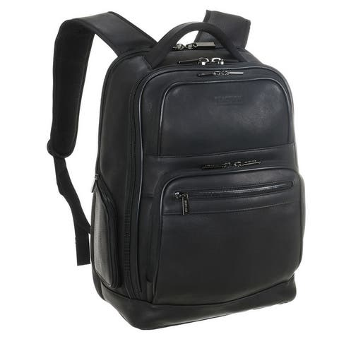 Kenneth Cole Reaction Full-Grain Colombian Leather 16-inch Laptop & Tablet Business Travel Backpack