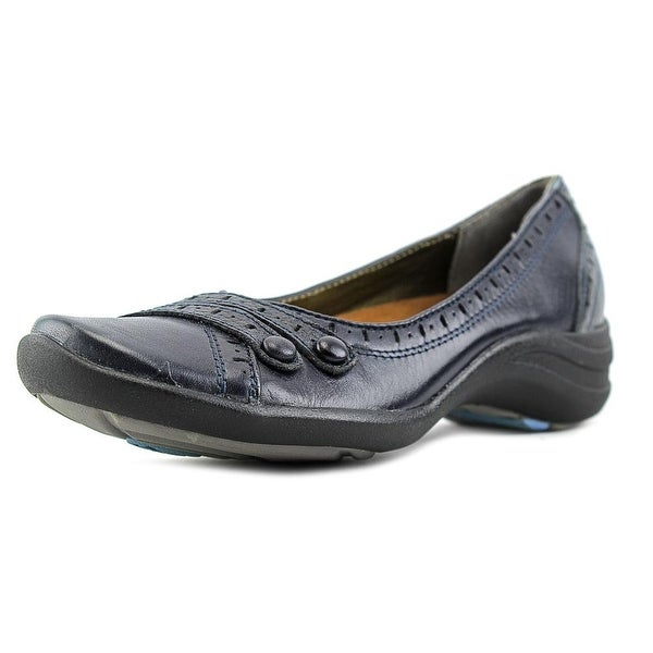 Hush Puppies Burlesque Women Round Toe Leather Blue Flats