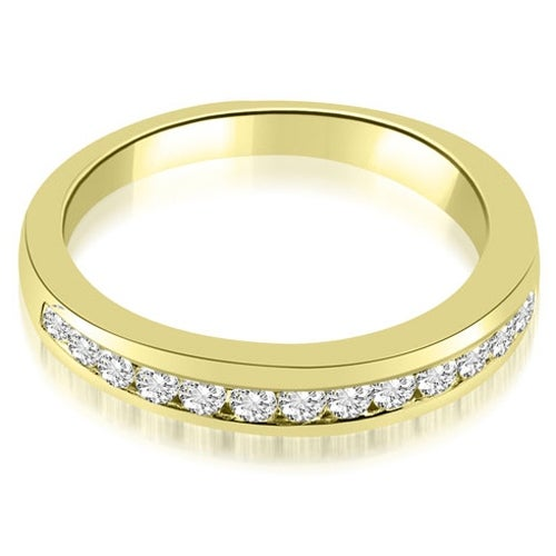 0.50 cttw. 14K Yellow Gold Classic Channel Round Cut Diamond Wedding Band