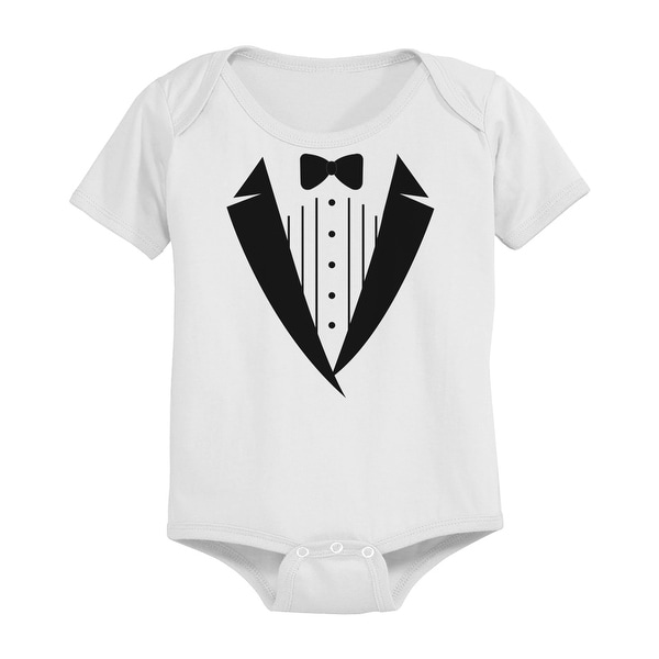 Tuxedo Funny White Baby Bodysuit Great Gift Idea for Holidays