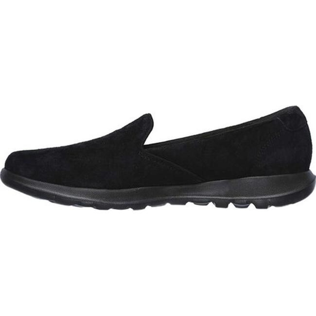 Skechers Women's GOwalk Lite Glam Slip On Walking Shoe BlackBlack