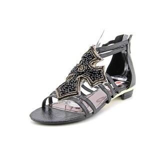 Two Lips Believe Women Open Toe Synthetic Black Gladiator Sandal