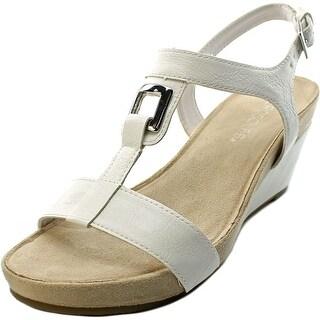 Aerosoles Light Force Women Open Toe Synthetic White Wedge Heel