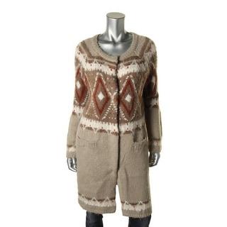 Free People Womens Wool Blend Pattern Cardigan Sweater - XS