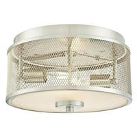 "Westinghouse 6327900 Morrison 2-Light 13"" Wide Flush Mount Drum Ceiling Fixture - Brushed nickel - n/a"