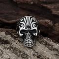 Vienna Jewelry Singular Stainless Steel Skull Ring - Thumbnail 1