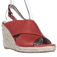 Via Spiga Rosette Esapdrille Slingback Sandals, Red