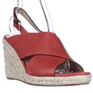 Via Spiga Rosette Esapdrille Slingback Sandals - Red
