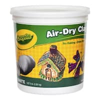 Crayola Air-Dry Easy-to-Use Durable Non-Toxic Self-Hardening Modeling Clay, 5 lb Bucket, White
