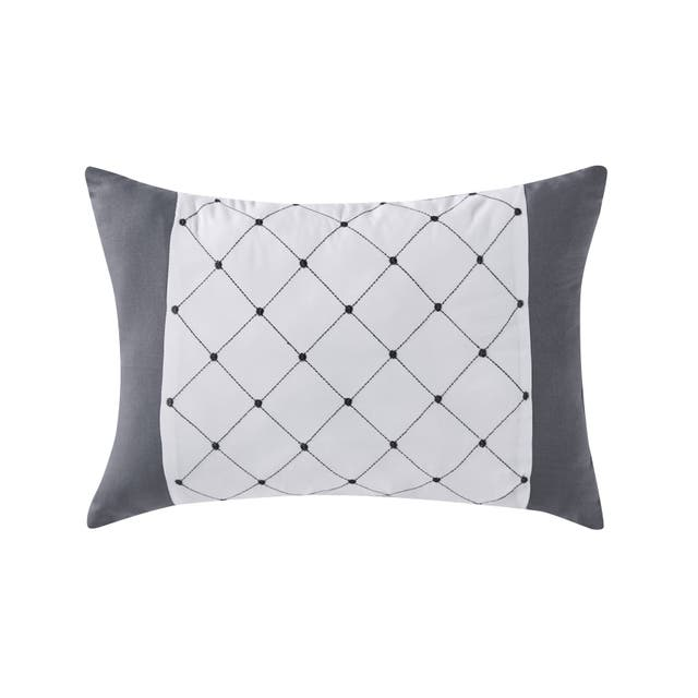 Trisha Grey Ruched Bed-in-a-Bag Comforter Set