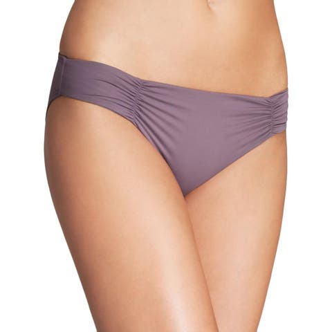 L Space Womens Hipster Ruched Sides Swim Bottom Separates