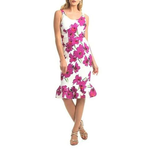 TRINA TURK Pink Sleeveless Knee Length Dress 12
