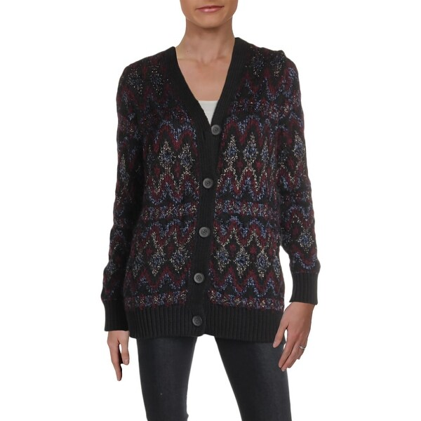 Lucky Brand Womens Cardigan Sweater Button-Down Mid-Length