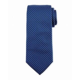 Hugo Boss Blue White Polka Dot Men's Neck Tie Silk Accessory