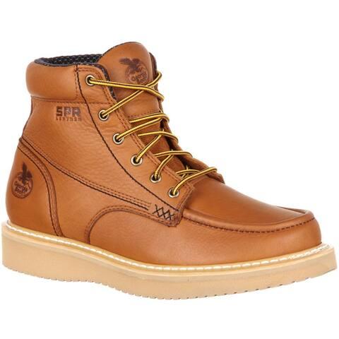 the best attitude d4dc0 a05f1 Georgia Boot  Men s Moc-toe Wedge Work Boot