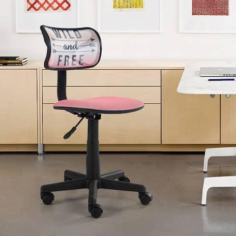 Urban Shop Hello Gorgeous Rolling Mesh-back Task Chair