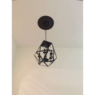 The Gray Barn Otis 5-light Antique Black Iron Chandelier