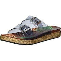 Naughty Monkey Women's Clear Mind Sandal, Black, Size 6.5