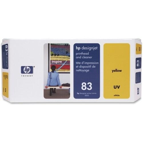 """HP 83 Yellow DesignJet UV Printhead and Printhead Cleaner (C4963A) (Single Pack) HP 83 Yellow Printhead/Cleaner - Yellow -"