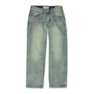 Link to Ecko Unltd. Mens Core Crystal Wash Denim Relaxed Jeans, blue, 28W x 32L Similar Items in Pants