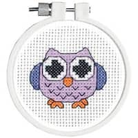 "3"" Round 11 Count - Kid Stitch Owl Mini Counted Cross Stitch Kit"