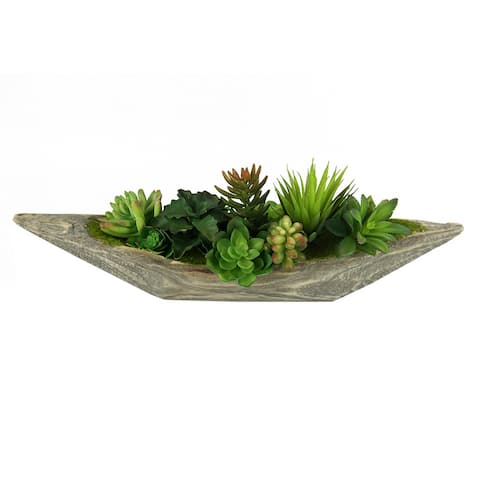 MODA MDW-1054-0456 wood pot decoration - 21.26*5.51*7.09 inches
