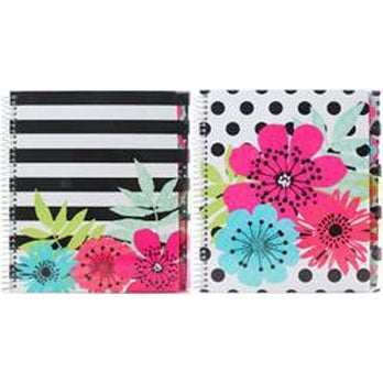 Sugarland; College Rule; Assorted Colors -Studio C 5-Subject Notebook 150 Sheets