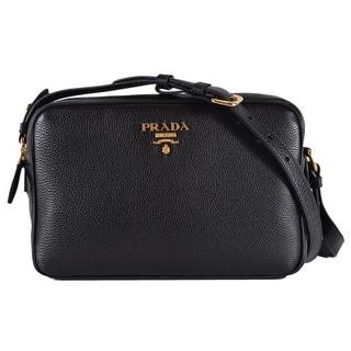 2dfecb9e38 Shop Prada 1BH079 Black Vitello Phenix Leather Bandoliera Double Zip Purse  Bag - Free Shipping Today - Overstock - 27299845