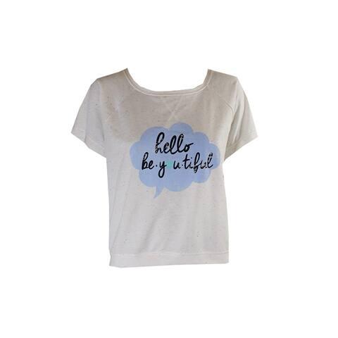 Jenni Juniors Ivory Short-Sleeve Graphic Confetti Dot Pajama Top XS