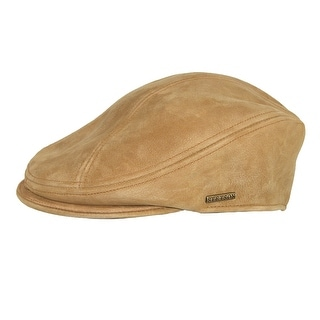 Stetson Distressed Leather Ivy Cap - Brown