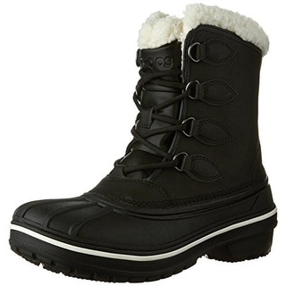 Crocs Womens All Cast II Snow Boots Faux Leather Ankle - 6 medium (b,m)