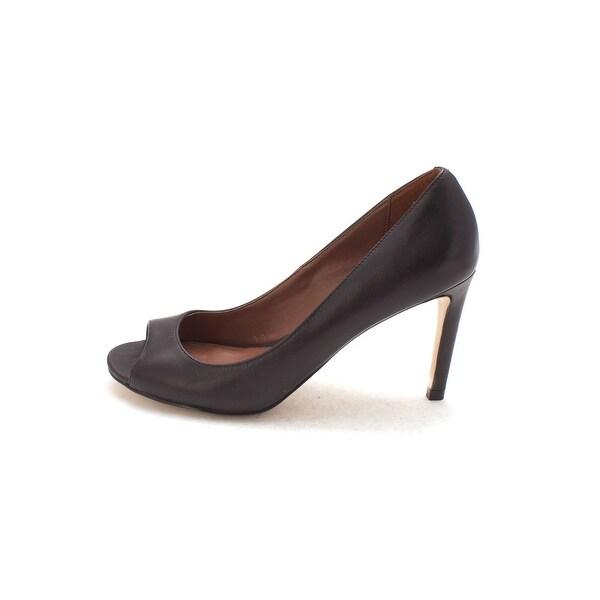 Cole Haan Womens Celestynasam Peep Toe Classic Pumps, Black, Size 6.0
