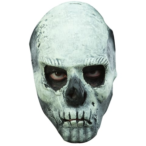 Adult Scary Glow in the Dark Skull Halloween Mask - Standard - One Size