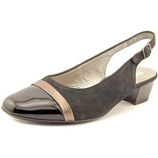 Ara Mimi Square Toe Leather Slingback Heel