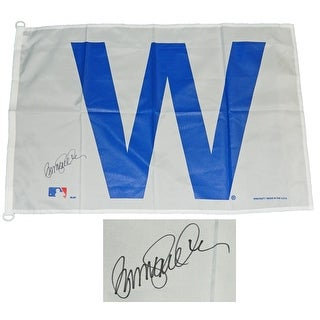 Ryne Sandberg Chicago Cubs 27x37 White W Flag