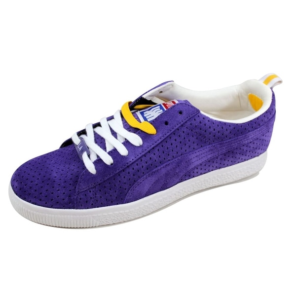 the best attitude 7aa31 00ae4 Puma Men's Clyde X Undefeated Gametime Violet/White-Team Yellow 354271 03