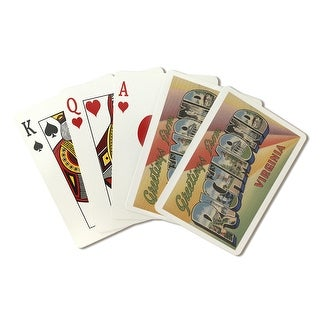 Greetings from Richmond, VA - Vintage Halftone (Poker Playing Cards Deck)