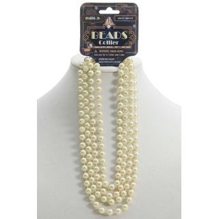 Forum Novelties Pearl Beads (Beige) - beige