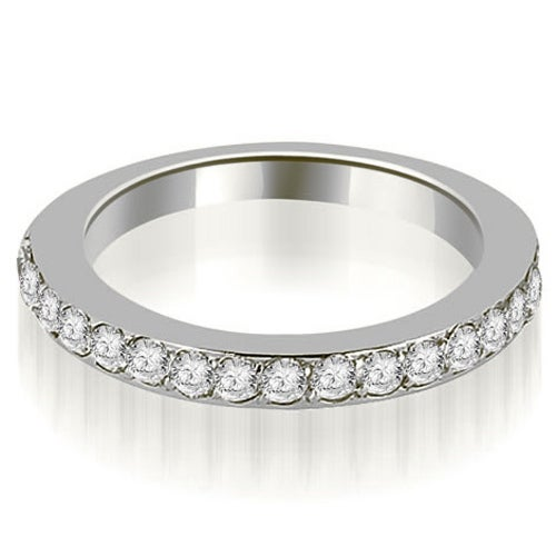 0.60 cttw. 14K White Gold Round Cut Diamond Wedding Band