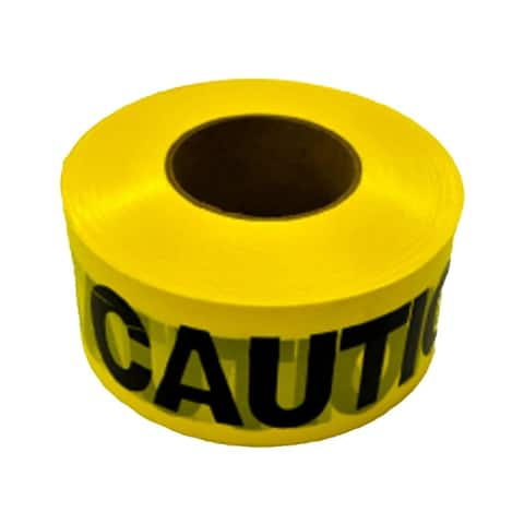 CH Hanson 16009 Caution Construction Area Flagging Tape, Yellow/Black