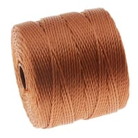 BeadSmith Super-Lon (S-Lon) Cord - Size 18 Twisted Nylon - Copper / 77 Yard Spool