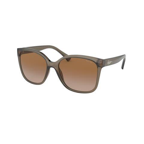 Ralph RA5268 588313 56 Shiny Transparent Brown Woman Square Sunglasses