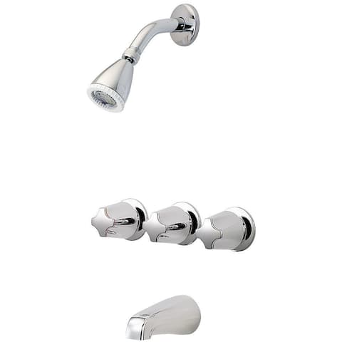 Pfister LG01-3410 Pfirst Series Tub and Shower Trim Package with Multi Function Shower Head and Pforever Seal