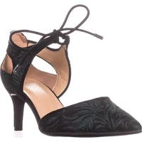Franco Sarto Darlis Lace Up Dress Pumps, Green Fabric - 7 us / 37 eu